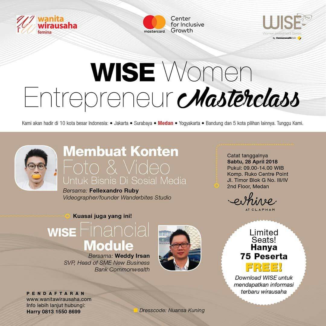 Seminar WISE WOMAN ENTERPRENEUR MASTERCLASS